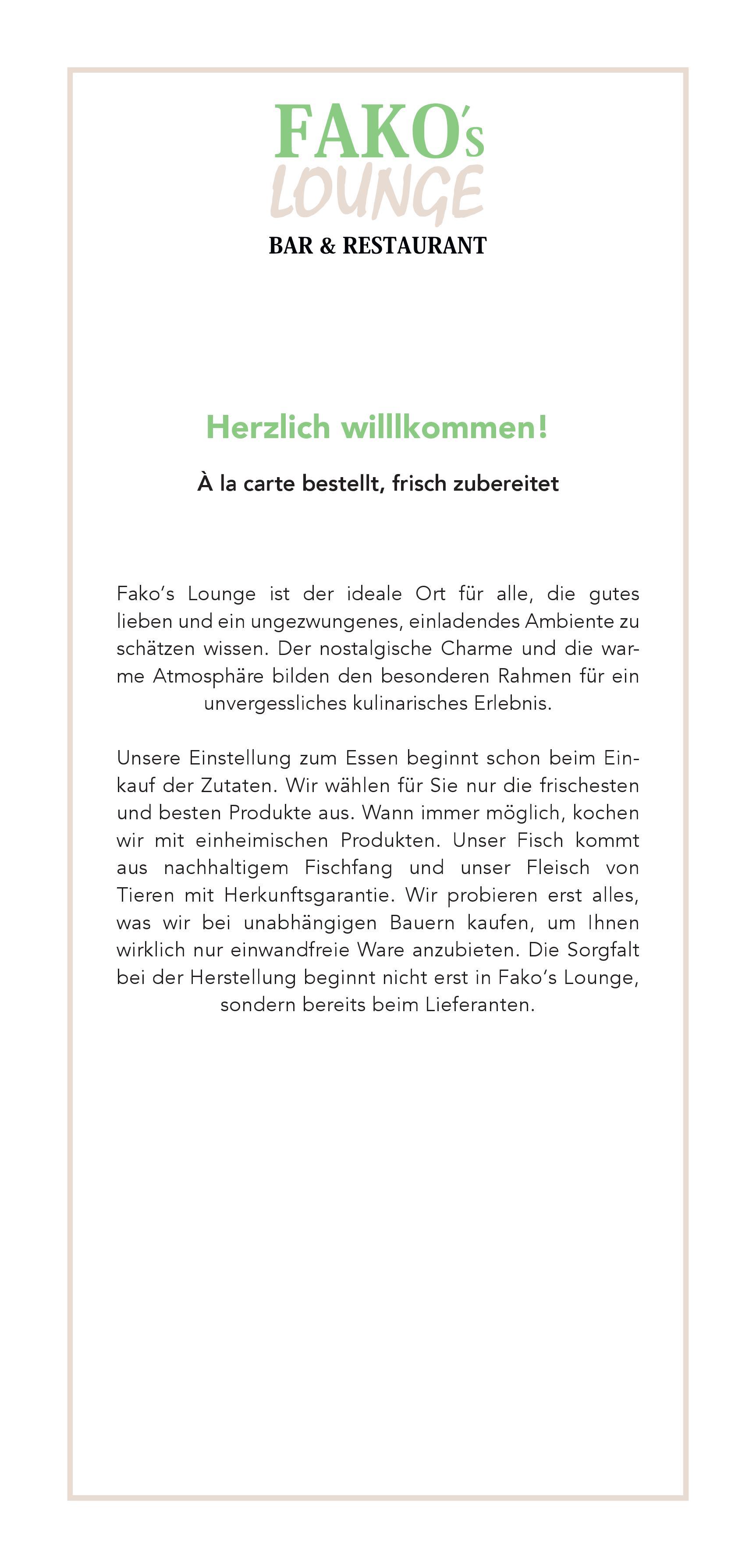 Suppen & Vorspeisen | Fakos Lounge